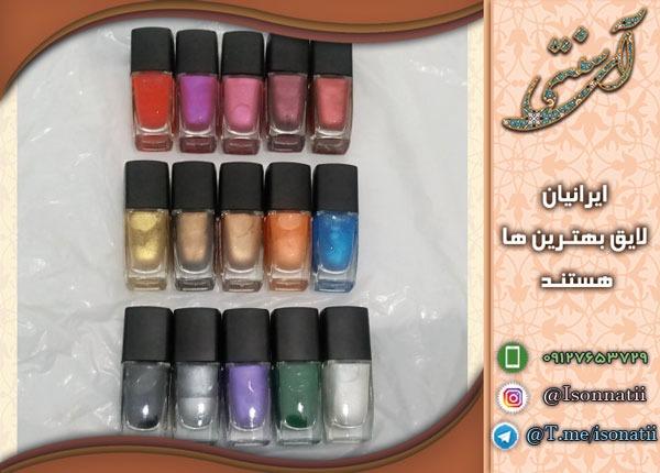 فروش انواع لاک طبیعی ناخن فاقد مواد سمی با رنگ های متنوع و جذاب